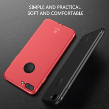 Baseus For iPhone 7 Case silicone Cover Ultra Thin soft TPU high quality phone case For iPhone 7 plus Case Cover With dust plug(China (Mainland))
