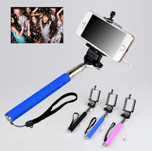 Extendable Wired Self Selfie Stick Handheld Monopod Tripods Clip Holder Camera Remote Controller For Cameras Phone