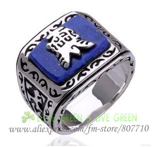 Free Shipping free bags wholesale The Vampire Diaries Jeremy resurrection ring elena punk gem ring lapis lazuli fashion jewelry(China (Mainland))