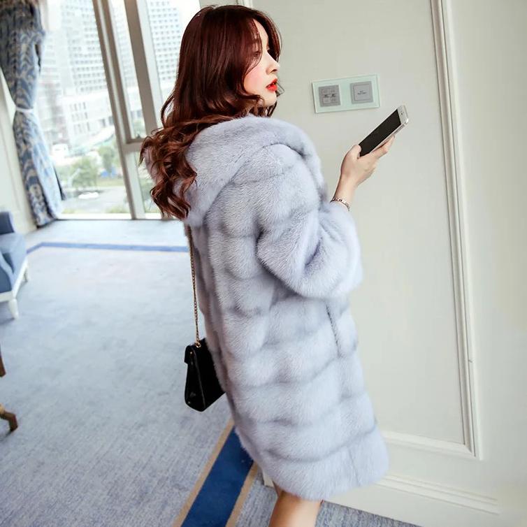 Genuine mink fur coat women real fur coats high end luxury mink fur jacket top quality mink marten overcoat New Phoenix(China (Mainland))
