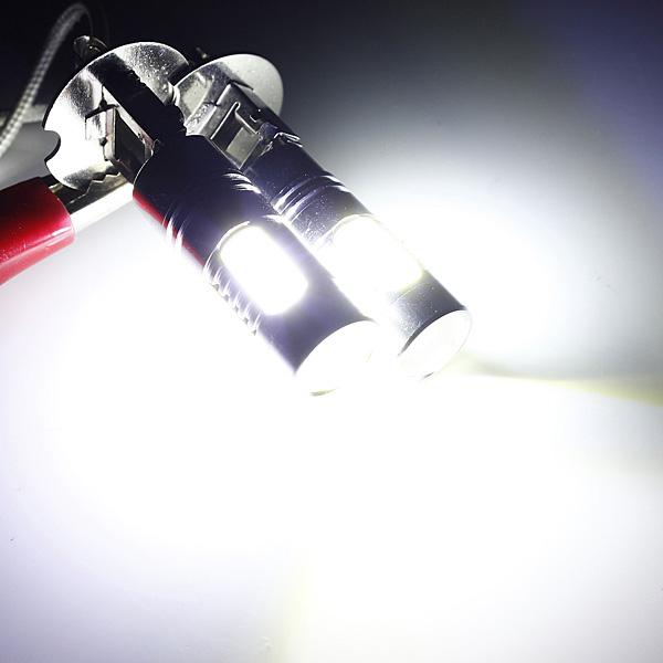 Audew 2x Hi-Power Constant Current LED COB H3 Car LED Light Fog Day Lamp Bulb Headlight 12V<br><br>Aliexpress