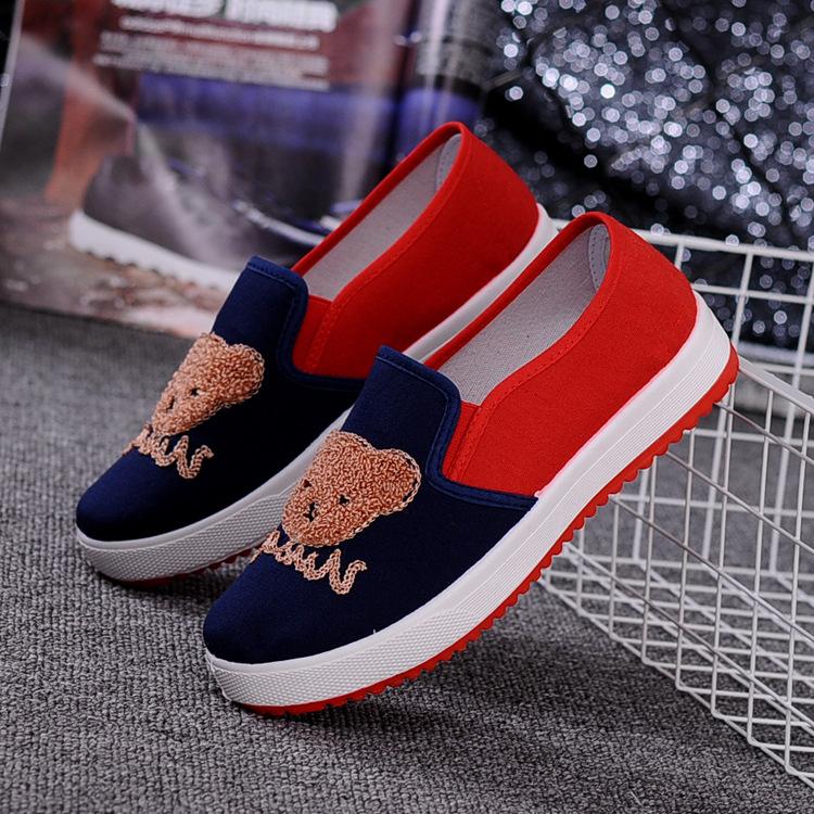 Парусиновые повседневные спортивные женские туфли на плоской подошве; модная undefined