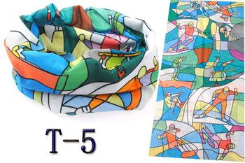 Outdoor multifunctional sports magicaf magic bandanas tube top seamless scarf collars muffler scarf face mask