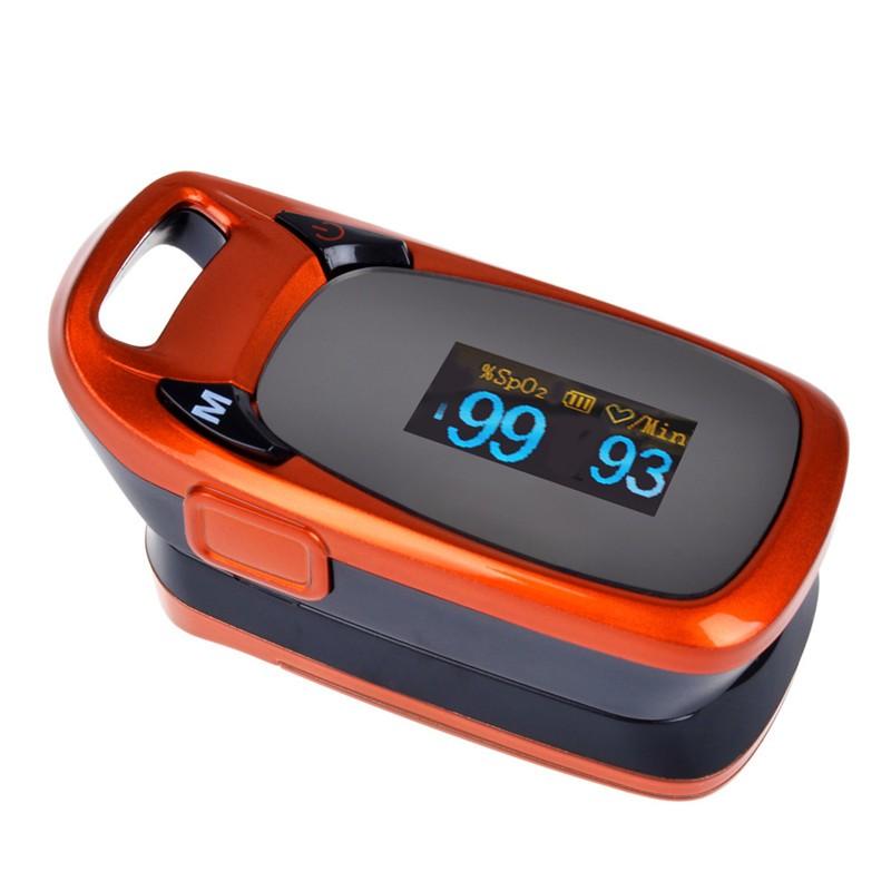 ELERA Free Ship Health care Finger Pulse Oximeter Blood Oxygen Saturation Oximetro Monitor Beep Alarm Coffee