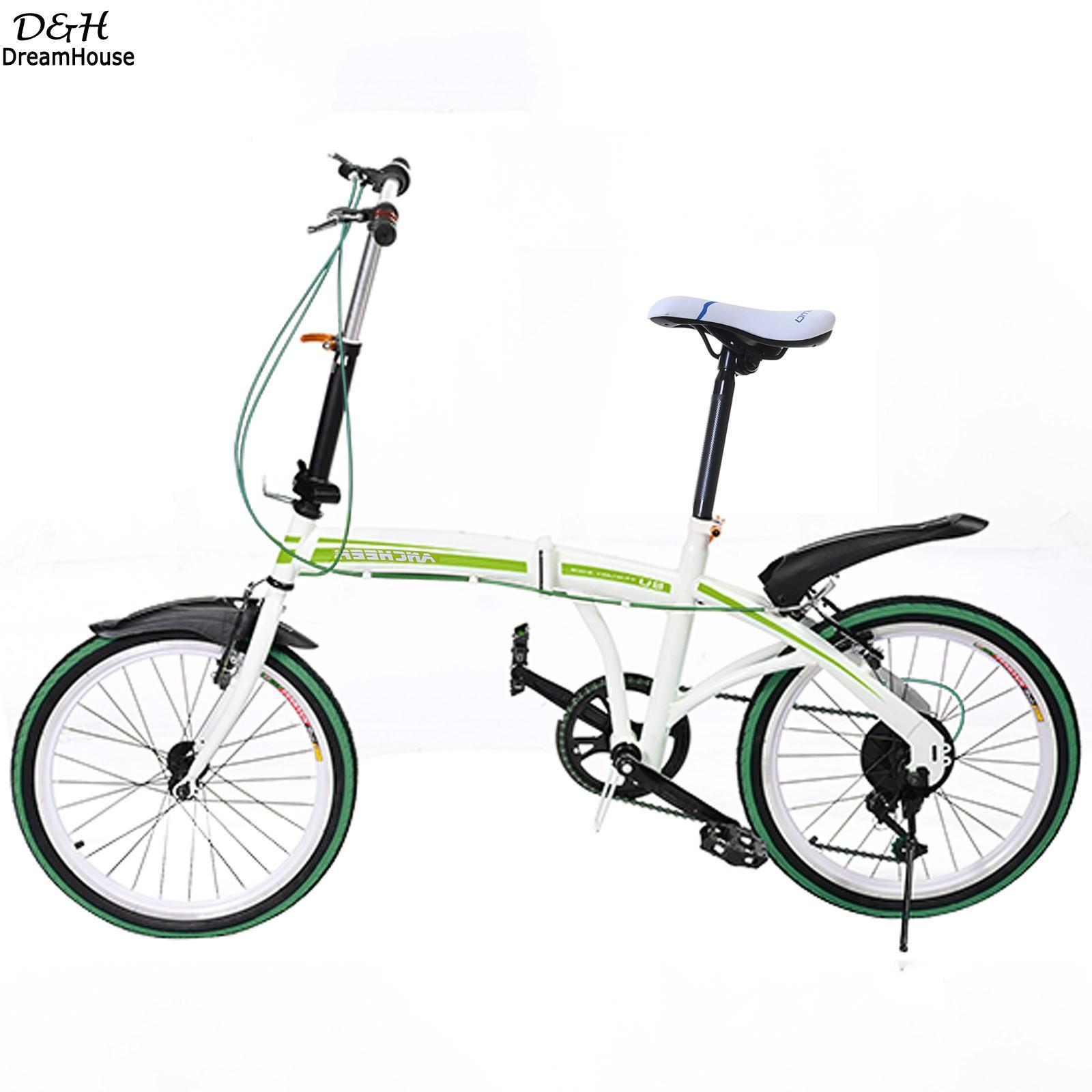 Brand 6-Speed Disc Brake Practical Portable Folding Bike Bicycle Unisex Adult Bicycles Green Travel Vehicles Bicicleta Plegable(China (Mainland))