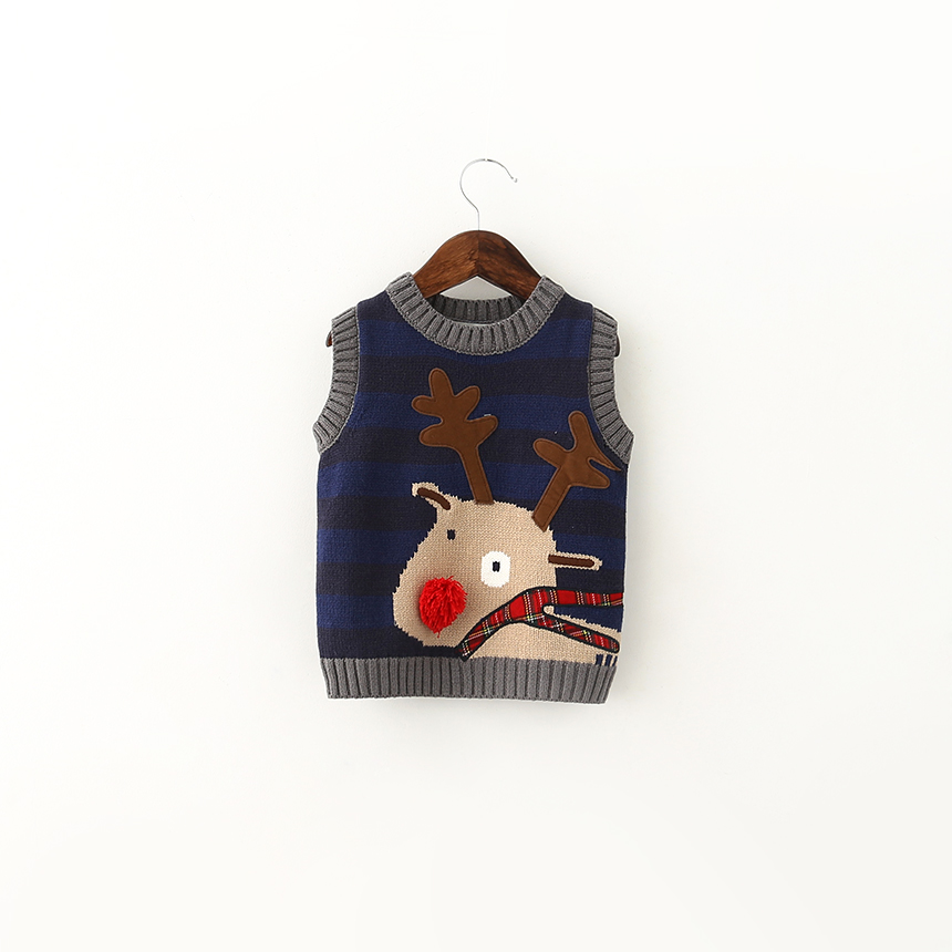 Здесь можно купить  Baby Toddler Boys Pullover Sweater Vests Clothes Wholesale Kids Christmas Gifts Deer Cartoon European Children Clothing 6pcs/LOT Baby Toddler Boys Pullover Sweater Vests Clothes Wholesale Kids Christmas Gifts Deer Cartoon European Children Clothing 6pcs/LOT Детские товары