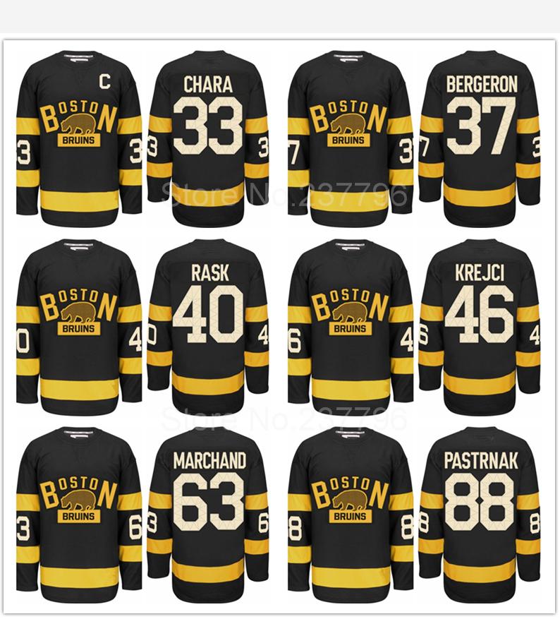 Гаджет  Boston Bruins 2016 Winter Classic Jersey Black 33 Zdeno Chara,Patrice Bergeron,Tuukka Rask,Krejci,Brad Marchand,David Pastrnak  None Спорт и развлечения