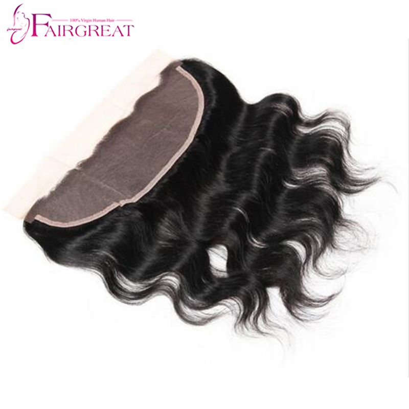 Ear To Ear Silk Base Frontal Closure Brazilian Virgin Hair Full Lace Frontal Closure 13*4 Swiss Lace Brazilian Body Wave Frontal(China (Mainland))