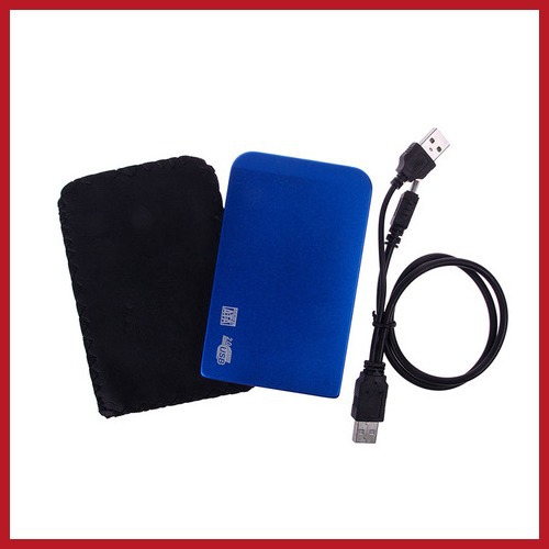 dealward USB 2.0 2.5 SATA Hard Disk Driver HDD External Box Case Enclosure Blue #17 Worldwide free shipping(China (Mainland))