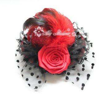 Mini BLACK TOP HAT FASCINATOR FANCY DRESS 12pcs/lot