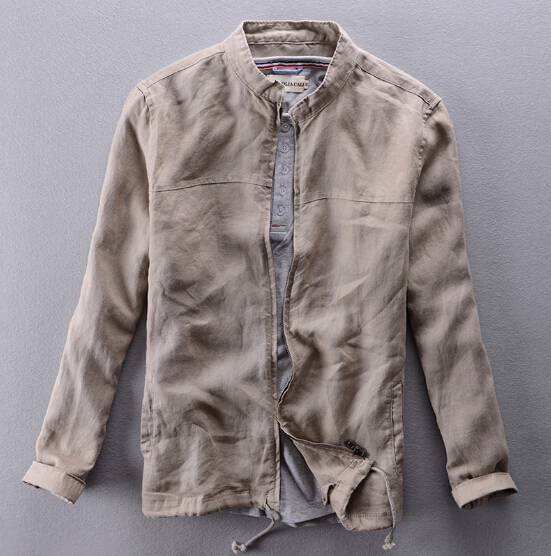2015 Summer New linen breathable outerwear men's casual ...