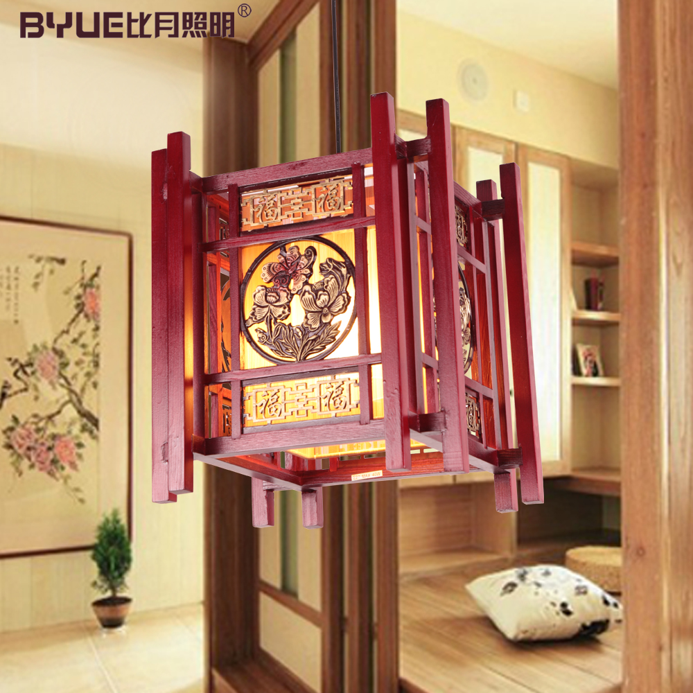 Chinese style lamps antique wooden stair wood sheepskin pendant light new arrival 3031(China (Mainland))