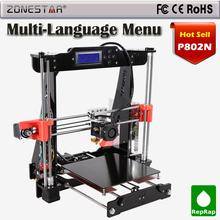 Reprap Prusa i3 3d printer DIY Kit P802M Upgraded P802N Selectable Filament Gift 8G SDCard High