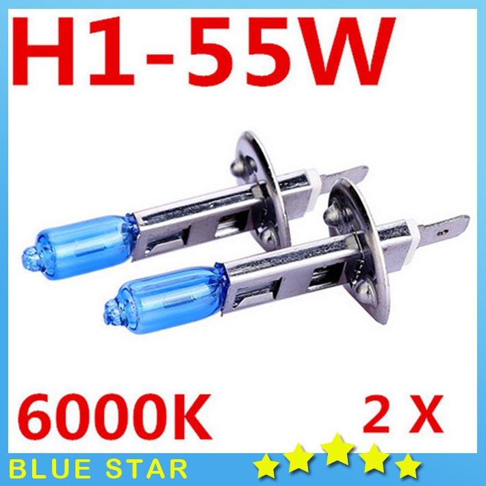 Hot 2X H1 Car Led light Fog Lights Headlight Bulb Lamp 12V 55W Super bright 6000K Halogen Xenon Quartz Cars Car Styling Auto(China (Mainland))