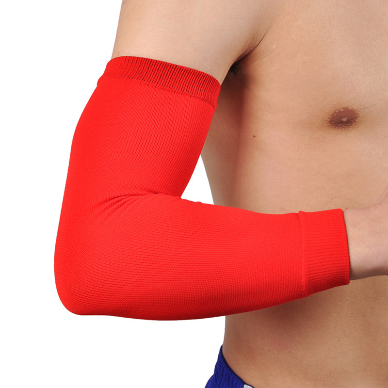 2016 Elastic Elbow Support Brace Sports Basketball Absorb Sweat Armband Arm Sleeves Elbow Pads Protector Arm Warmers Guard(China (Mainland))