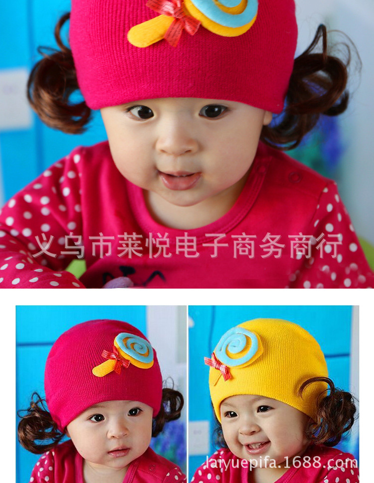 New 2016  Brand Cotton newborn Baby Boy Girl Hats Toddler Infant Kids Caps Candy Color Lovely Baby Beanies 1pcs/lot   yerm26