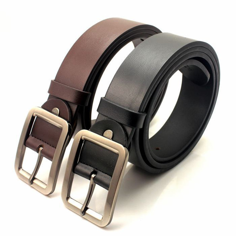 Men's cowhide leather belt Classic Stylish REAL LEATHER Belt Alloy Buckle PD044(China (Mainland))