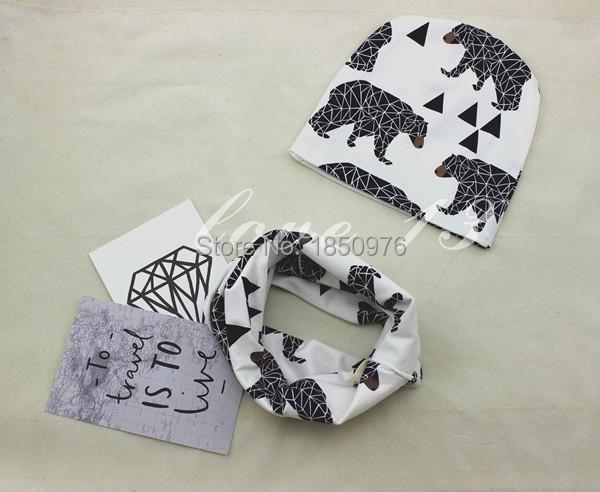 New-Arrival-Cute-Baby-Boys-Girl-Newborn-0-2Y-Cotton-Hat-Scarf-Set-Bear-Stripe-Donut (1).jpg