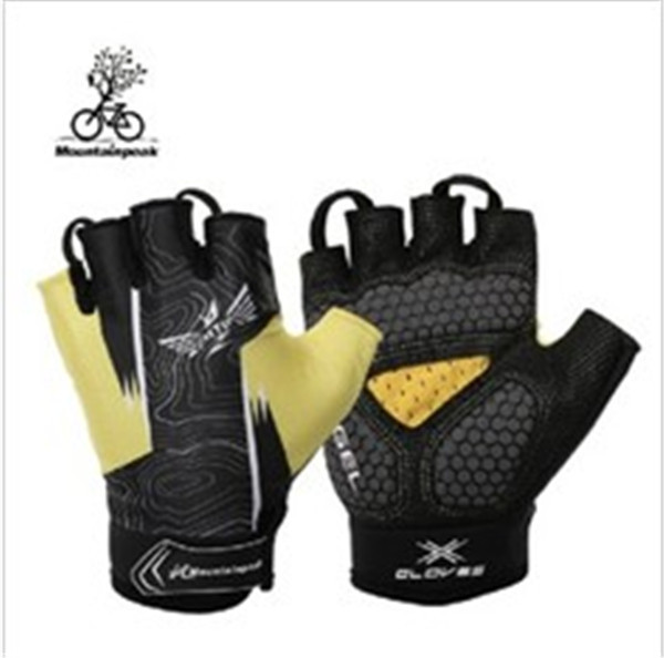 2013 The Latest Yellow-Black Lycra Cycling Bicycle Bike Sports Half Finger Glove M-XL<br><br>Aliexpress