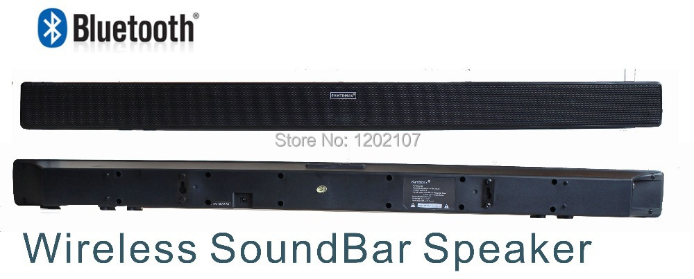 2014 New model UltraSlim wireless bluetooth speaker Soundbar Sound bar home theater HiFi Audio system for LED TV free shipping(China (Mainland))