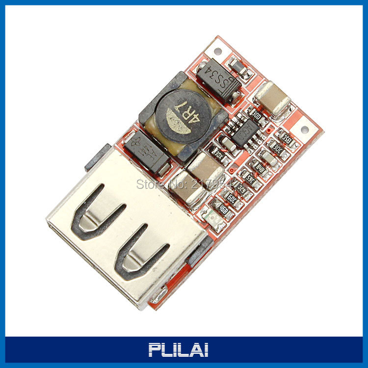 Mini Size USB Output DC Buck Converter 6-24V 12V Step Down To 5V 3A Synchronous Rectification Power Supply Charger Module(China (Mainland))