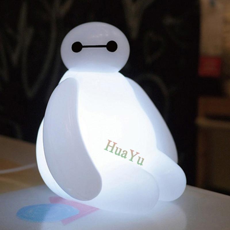 Гаджет  Big Promotion ! 2015 New Arrival 1 Piece High Quality 16cm Big Hero 6 Baymax USB LED Night Light Creative Table Lamp None Свет и освещение