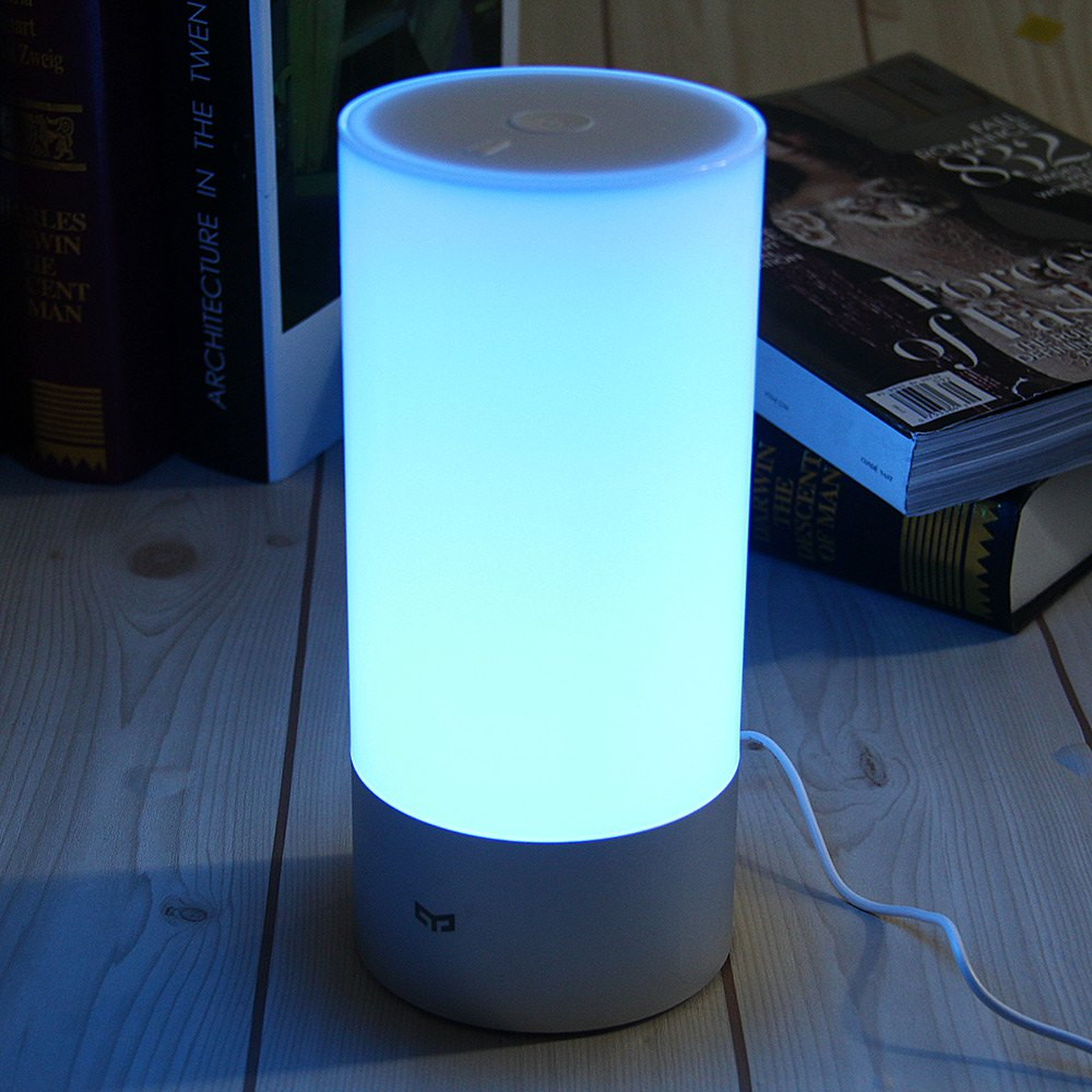 2016 Original Xiaomi Yeelight Smart Night Lights Indoor Bed Bedside Lamp 16 Million RGB Lights Touch Control Bluetooth For Phone(China (Mainland))
