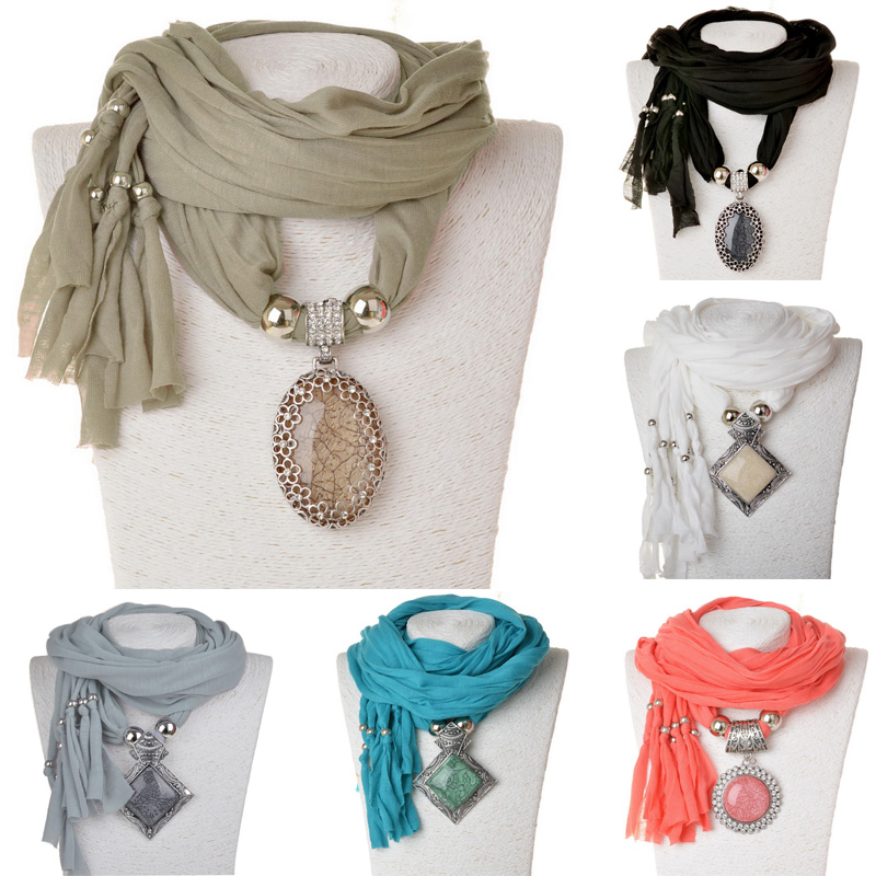 New Arrival 2015 Fashion Women Party Scarf Necklace Pendants Wrap Jewelry Luxury Feminina Warm Cotton Scarves Necklace For Women(China (Mainland))