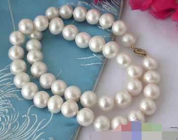 song voge gem nanJ0443 WHITE ROUND CULTURED PEARL NECKLACE 14K<br><br>Aliexpress