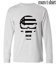 2016 autumn men fashion hip-hop camisetas Sniper Chris Kyle male Punisher Skull Printed funny long sleeve t-shirt brand clothing(China (Mainland))