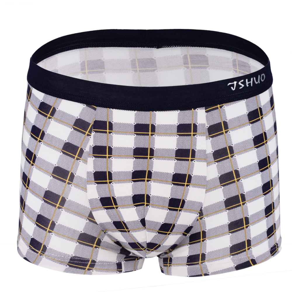 New Men's Modal Boxers Sexy Pouch Underwear Boxers High Quality Men Lattice Boxers Shorts Fashion Modal Boxers For Male(China (Mainland))