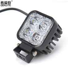 GERUITE Brand 5PCS Car Motorcycle LED Spot Work Light 12W LED Light Auto Lamp Fog Light Car Motorbike Worklight Offroad Lamp(China (Mainland))