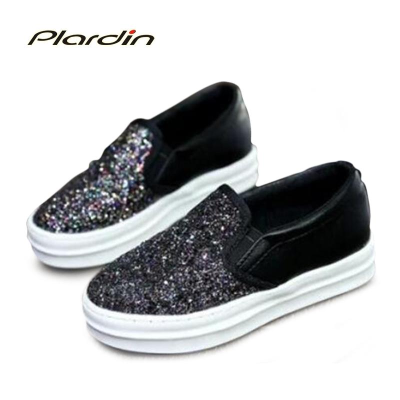 Flats Women Casual Shoes 2016 Walking Shoes Slip-on Beautiful Glitter Shoes Women Flats with Flat Playform<br><br>Aliexpress