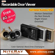 Puerta Digital mirilla visor de la cámara con sensor de movimiento soporte fotografía de toma de, grabación de vídeo, puerta y fuerte IR infrarrojos