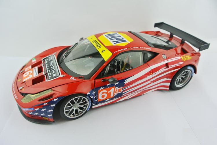 HotWheels Elite 1:18 458 Italia GT2 #61 LM 2012 - AF CORSE Die-casts metal model cars(China (Mainland))