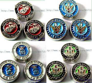 United States Army series 50pcs floating locket charms as friend families gift for living memory floating locket(China (Mainland))