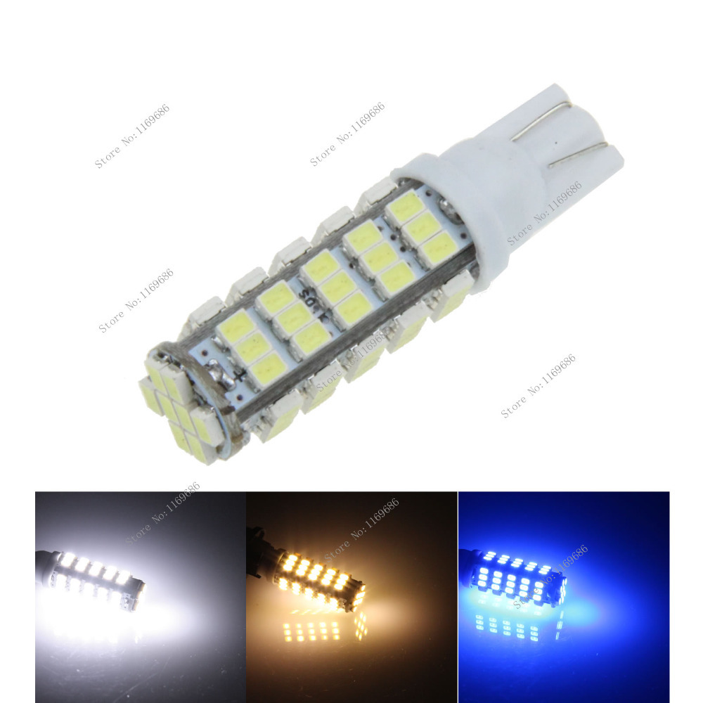 A051 Car White Red Blue Green Amber Pink LED Light 68 SMD 1206 LED T10 W5W 147 168 Wedge Door Instrument Side Bulb Lamp DC 12V(China (Mainland))