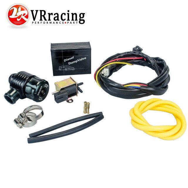 VR RACING-New ElectrIcal Diesel BLACK Blow Off Valve With Adapter Outside  /Diesel Dump Valve/Diesel BOV with Adapter VR5013