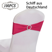 Hot Sale 100PC/Pack High Quality Elegant Lycra Chair Bands with Buckle Spandex Chair Sashes for Wedding Decor Ship from Germany(China (Mainland))