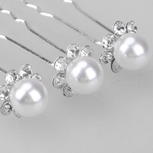 20Pcs Wedding Hair Pins Bridal Updo Diamante White Imitation Pearl Clips New High Quality