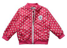 jackets for girls Cute dot casual jacket kids Jacket 2 6 age children outwear new autumn