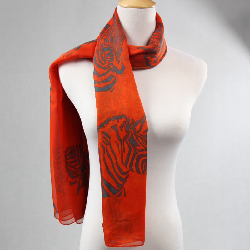 Brand Chiffon Shawl Silk Long Red Scarf 187*143cm Women's Print Scarves For Women Spain Cachecol desigual Wholesale PP626BL(China (Mainland))