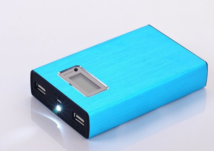 100pcs/lot 12000mah LCD power bank With universal Dual USB Outputs External Backup Battery charger OEM+4 Connector+usb cable(China (Mainland))