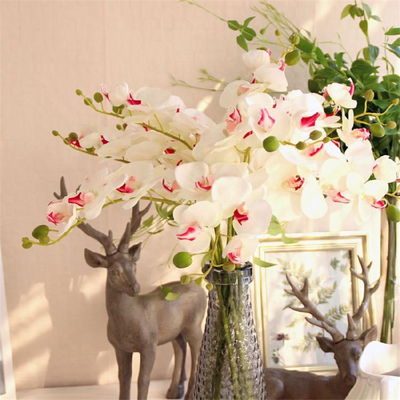 78cm artificial butterfly orchids decorative silk flowers for Artificial flowers decoration home