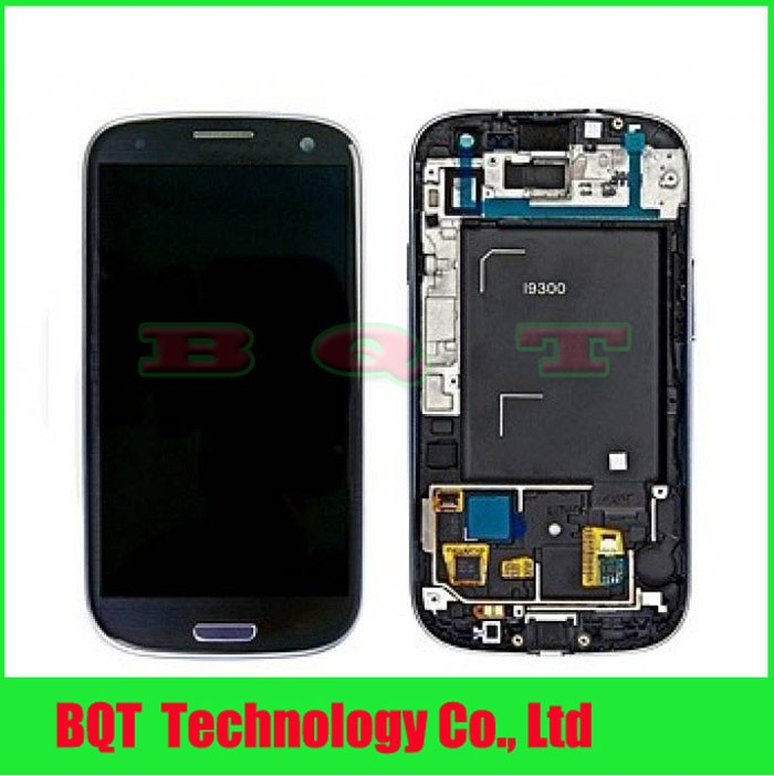 Replacement For Samsung Galaxy S3 i9300 LCD Display With Touch Screen Digitizer Frame Assembly Free shipping(China (Mainland))