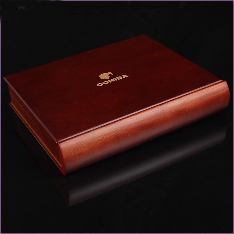 Cohiba Wood Material Portable Cigar Storage Box With Lighter and Cutter Can Storage 2 Cigars Gift Box Package(China (Mainland))