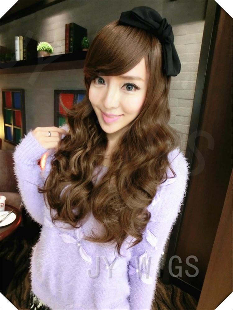 Lady Long Curly Full Bangs Cosplay Wig Most Popular Hairstyle Best Gift For Party Friends