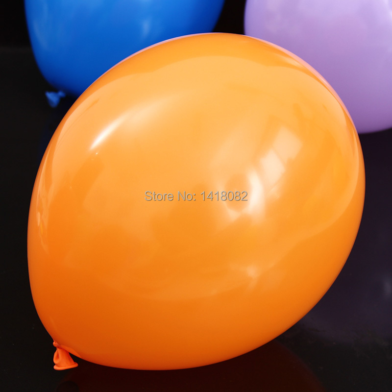 2014 round balloons (50piece/lot )100% latex balloons wedding party ballon 10inch Orange ballon(China (Mainland))