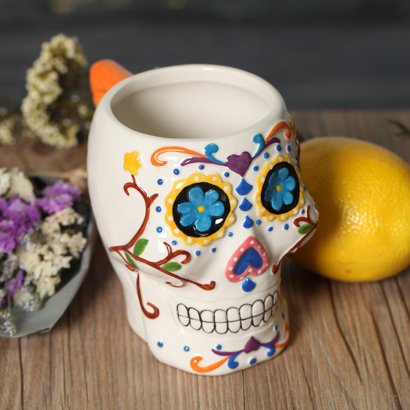 Online Buy Wholesale Skull Pottery From China