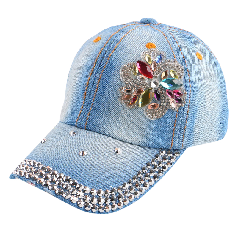 manufacture cheap price promotional new fashion boy girl kid beauty flower snapbacks hats cotton denim custom brand baseball cap(China (Mainland))